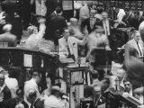 Frantic Day at the New York Stock Exchange During the Market Crash