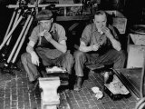Workers Eating in a Ford Motor Company Plant