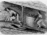 Illustration of Two Children Working in Coal Mine