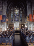 West Point Cadets Attending Service at Cadet Chapel