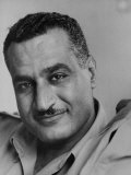 Portrait of Egypt&#39;s Gamal Abdul Nasser  Who Is Attending the Bandung Conference