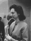 Columnist Dorothy Kilgallen Covering the Finch Murder Trial