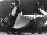 Couples Dancing the Cseadas in their Local Costumes of Mezokovesd