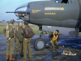 Crew of a B-26 Marauder Outside their Plane  Nicknamed Ginger