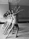 Dancers at George Balanchine&#39;s School of American Ballet During Rehearsal in Dance Posture