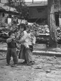 Korean Children in a War Ravaged Area