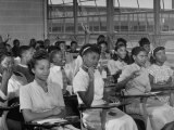 African-American Students in Class at Brand New George Washington Carver High School