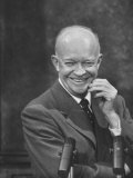 President Dwight D Eisenhower at Press Conference