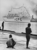 Ss Hope Arriving and Welcoming to Indonesia