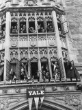 Vassar Girls Cheering Cyclists from Windows