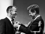 Astronaut Alan B Shepard Receiving an Award from President John F Kennedy