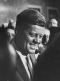 Pres-Elect John F Kennedy  on Announcement of Birth of His Son  at Home in Georgetown