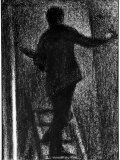 Charcoal Drawing Self Portrait of Goerges Seurat