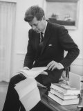 President John F Kennedy Working in the White House Office
