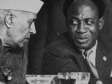 Jawaharlal Nehru of India with Kwame Nkrumah of Ghana at the Belgrade Conference