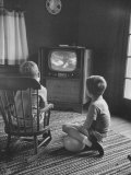 Children Watching a TV Show