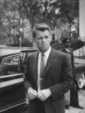 Attorney General Robert F Kennedy  after Meeting of National Security Council  Re Cuban Crisis