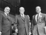 Goodwin Knight  Pres Dwight D Eisenhower and William Knowland During Campaign Tour of California