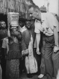 Vice-Pres Lyndon B Johnson in Senegal