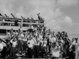 Crowds at Cape Canaveral  Florida at Time of Commander Alan Shepard's Space Flight