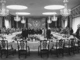 State Department Dining Room Set for Formal Luncheon in Honor of President Betancourt of Venezuela