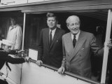Presidential Yacht Cruising on Potomac River with Pres John F Kennedy and Harold Macmillan Aboard