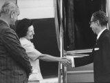 Mexican President Ordaz Gustavo Diaz Visiting President Lyndon B Johnson and Wife