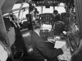Flight Deck of a Stratocruiser  Flying under Instrument Conditions