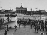 President Kennedy on Platform Looking over Brandenburg Gate During Visit