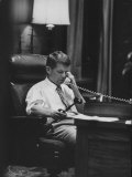 Attorney Gen Robert F Kennedy in His Office at Night