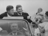 John F Kennedy and Gov Terry Sanford Campaigning