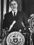 Minnesota Senator Eugene McCarthy Campaigning for Presidential Primaries