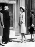 Mrs John F Kennedy at Diplomatic Reception During Paris Visit with Charles Degaulle
