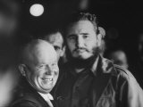 Nikita Khrushchev and Fidel Castro During their Meeting at the United Nations Assembly Session
