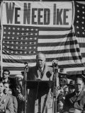 Dwight D Eisenhower Speaking During Campaign