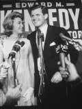 Edward M Kennedy and Wife During Campaign for Election in Senate Primary