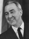 Minn Sen Eugene McCarthy Grinning During Campaign for Presidential Primarie