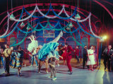 "Actress Carol Lawrence Et Al in Dance Scene from Broadway Musical ""West Side Story"""