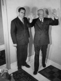 Richard M Nixon Posing with Dwight D Eisenhower  for Photographers