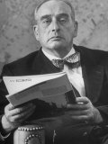 Portrait of Robert Moses  Nyc Planner and Builder of Highways  in His Office