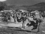 S Vietnamese Army Troops Receiving Guerilla Warfare Training from Us Military Advisors