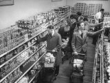 British Seamen Shopping at the A and P Supermarket  Buying Food Not Available in Great Britain