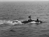 "Midget Submarine  ""Minisub""  Cruising on Surface Laying Mines"