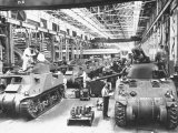 Workers on the Assembly Line at the Chrysler Tank Arsenal