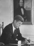 Senator John F Kennedy in His Office after Being Nominated for President at Democratic Convention