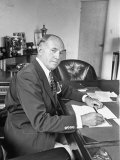 Warner Bros Studio Chief Jack Warner Sitting at His Desk