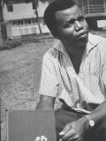 Nigerian Author of &#39;A Man of Many People&#39; Chinua Achebe  at Home Near Lagos