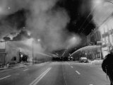 Chicago Firemen Combat Blazes During Race Riots Following Murder of Martin Luther King Jr