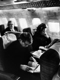 Robert F Kennedy and Wife on Board Plane