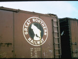 Railroad Box Car W the Logo of the Great Northern Railway